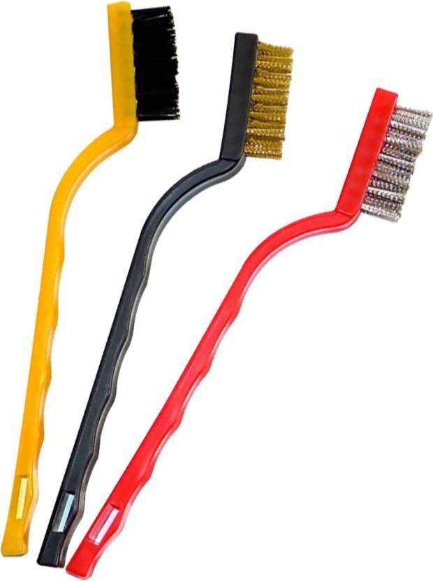 Dynamo 3 Pcs Mini Wire Brush Set Cleaning Tool Kit Strip Brush