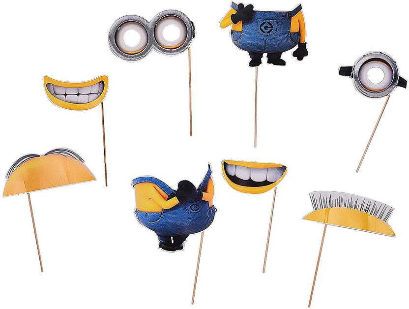 Party Butiko Indispacable Me Minion Inspired Fun Photo Booth Props
