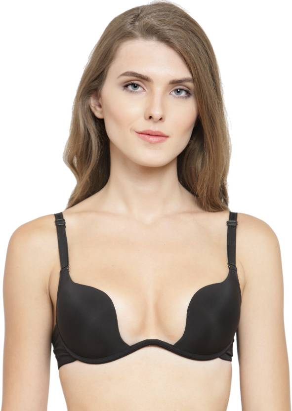 e9d4555333 PrettyCat PrettyCat Beautiful Fantastic Pushup U Shape Bra Women Plunge  Lightly Padded Bra (Black)