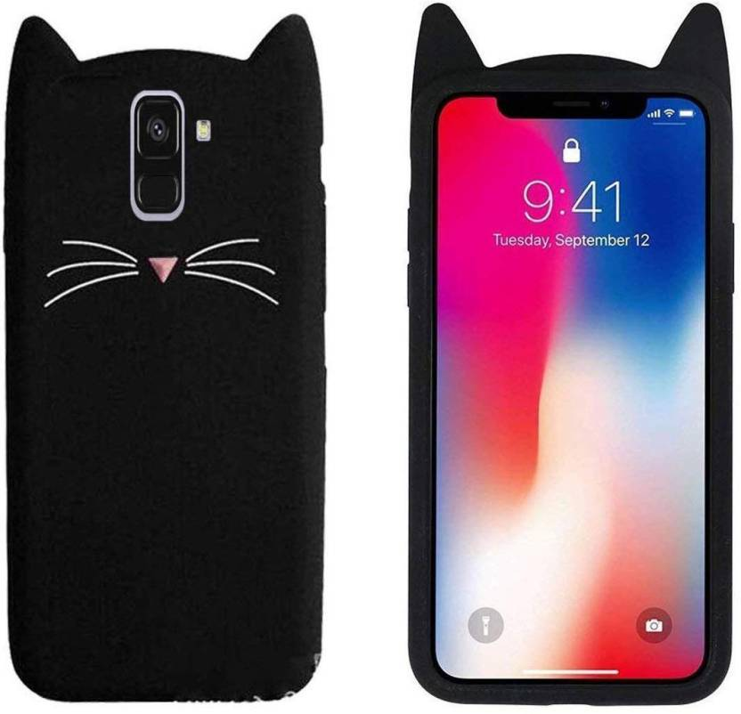 new style 6c0e2 e2432 KSF Back Cover for Girls 3D Cartoon Cute Cat Silicone Mobile Back ...