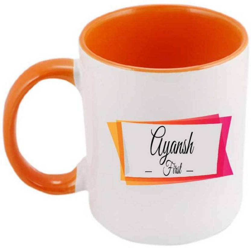 Juvixbuy Printed Ayansh Name & Meaning Inside Orange