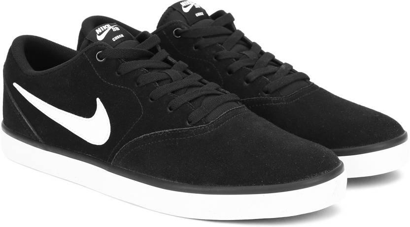 innovative design 8022a 3bfb7 Nike SB CHECK SOLAR Sneakers For Men (Black, White)