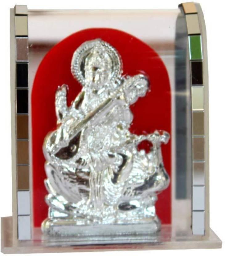 CSU Hindu God Saraswati in Cabinet-Religious Showpiece,Pooja Gift