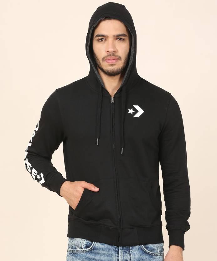 af2bddefe554 Converse Full Sleeve Applique Men s Sweatshirt - Buy Black Converse Full  Sleeve Applique Men s Sweatshirt Online at Best Prices in India