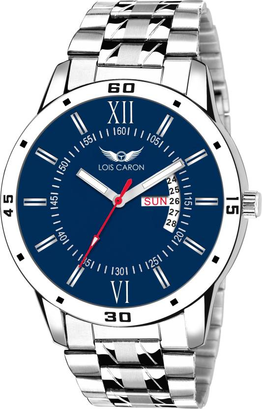 5079e84e778 Lois Caron LCS-8016 BLUE DIAL DAY AND DATE FUNCTIONING Watch - For Men - Buy  Lois Caron LCS-8016 BLUE DIAL DAY AND DATE FUNCTIONING Watch - For Men  LCS-8016 ...