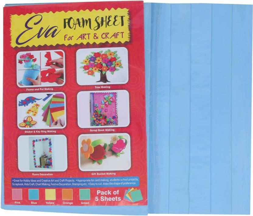 Sampada Eva Foam Sheet Blue Color A4 Size 3mm Thickness For Art