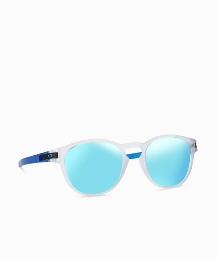 d89a16c62f Buy Oakley Oval Sunglass Blue For Men Online   Best Prices in India ...