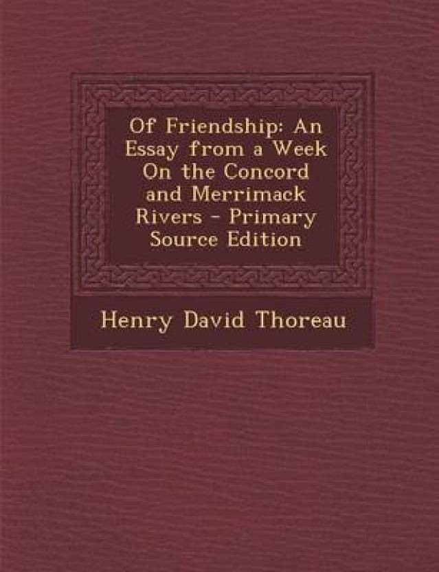 Of Friendship: Buy Of Friendship by Thoreau Henry David at Low Price