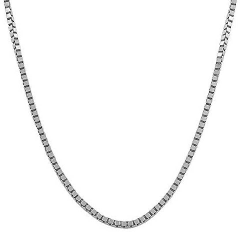 525da43be2c45 Arisidh Trendy Box Design 925 Pure Sterling Silver Chain For Men ,Boys,  Girls And Women. Silver Plated Sterling Silver Chain