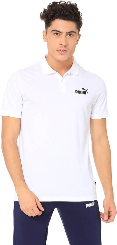 0df2f96689d Puma Solid Men Polo Neck White T-Shirt - Buy Puma Solid Men Polo Neck White  T-Shirt Online at Best Prices in India | Flipkart.com