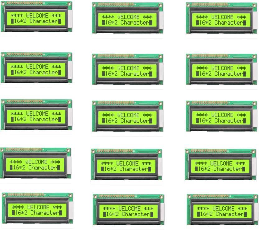 Techwiz 15 Piece 16x2 Characters (Alphanumeric) LCD Display