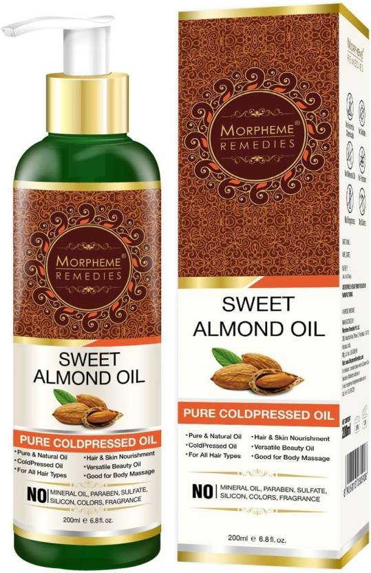 Morpheme Remedies Pure Sweet Almond Oil (ColdPressed) For Hair, Body, Skin  Care, Face Hair Oil