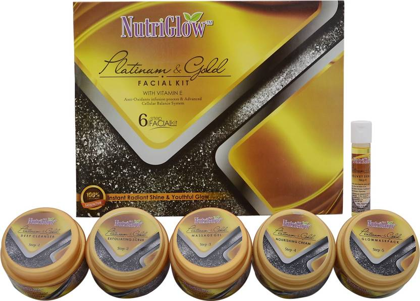 NutriGlow Platinum and Gold Facial Kit 250 g - Price in India, Buy