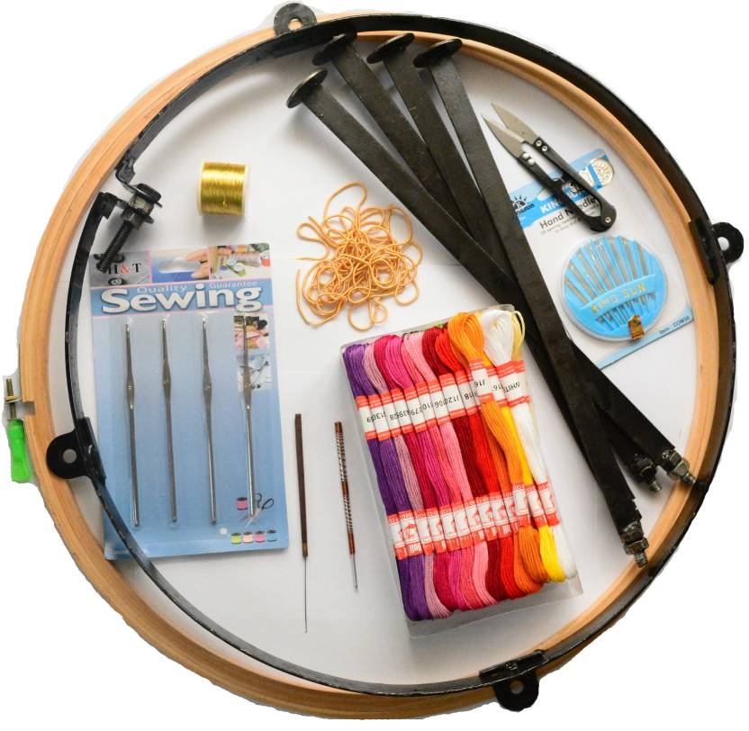 Ecaart Embroidery Frame 16 Inches With Stand And Accessories For