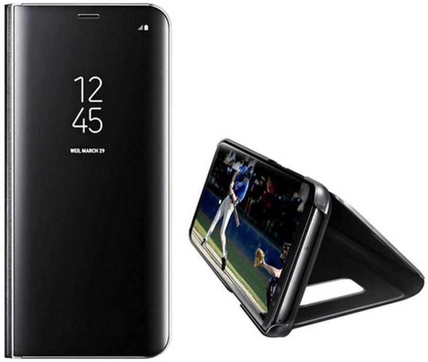 innovative design 7e7f9 2f91b Maggzoo Flip Cover for Samsung A6 Plus Star Black Mirror Smart Case ...