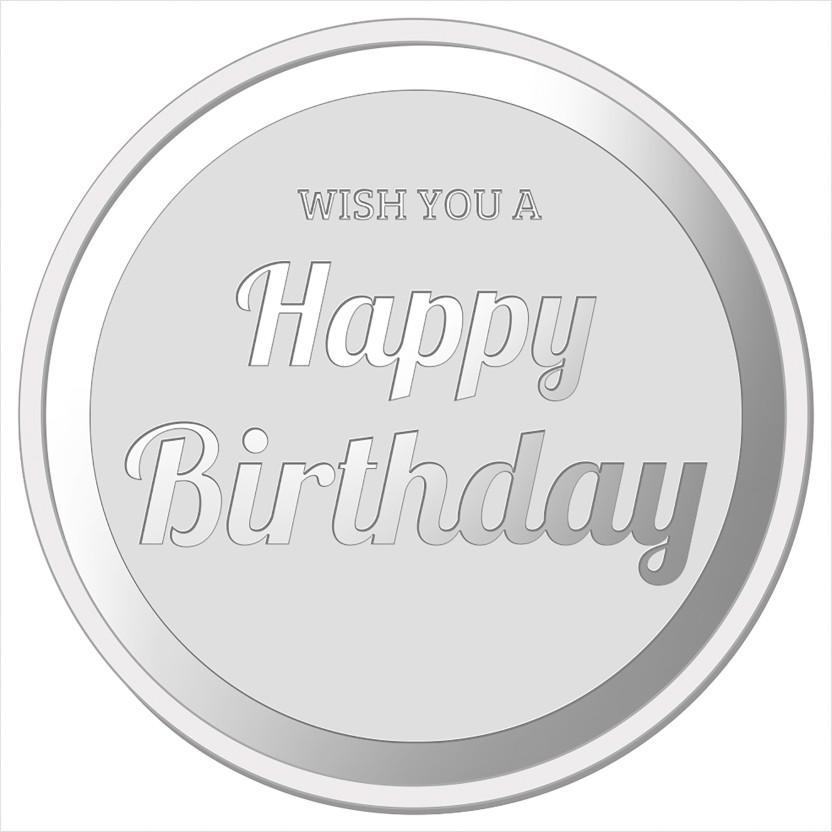 Ibja Gold Happy Birthday S 999 20 G Silver Coin Price In India