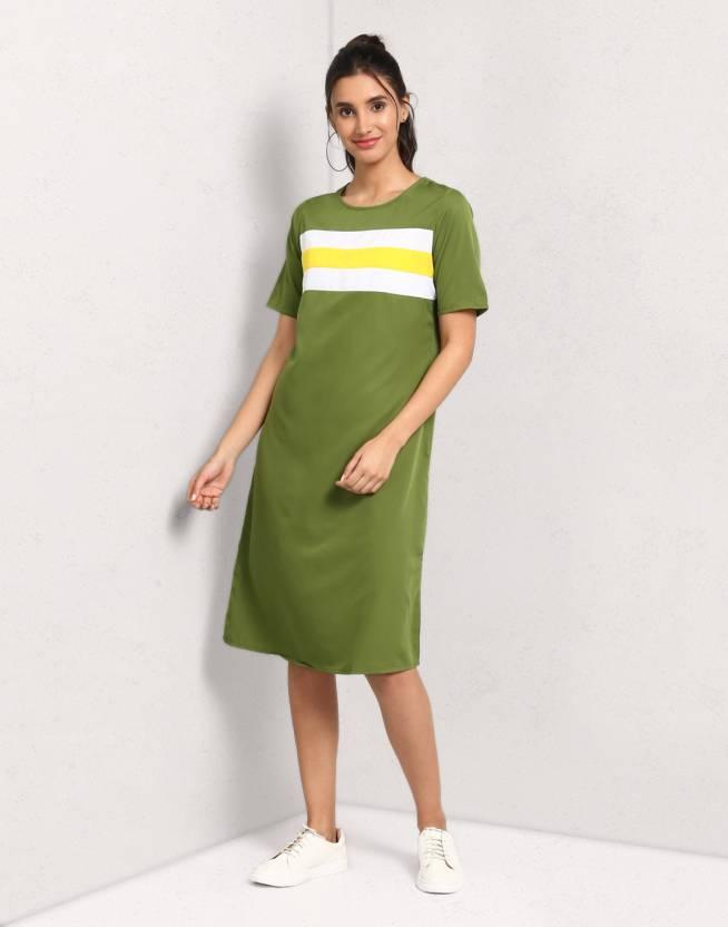 8efd3818cfabe Metronaut Women's Sheath Green Dress