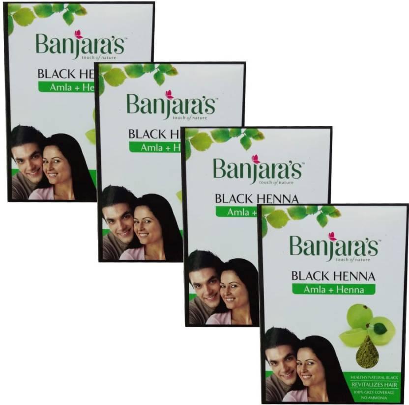 575027147 Banjara's Black Henna Amla+Henna (Pack of 4) Hair Color - Price in ...