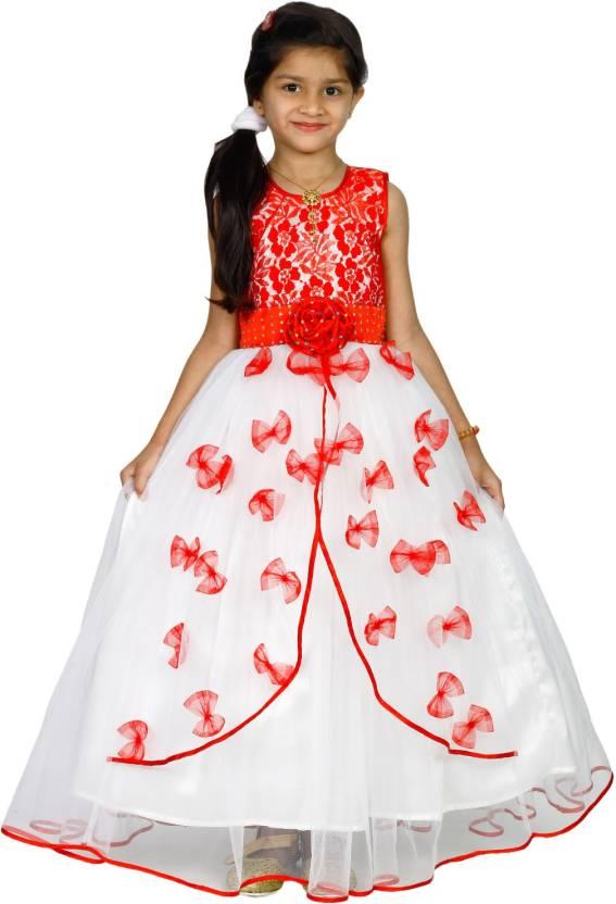 42523b80d3 MANNAT FASHION Girls Maxi/Full Length Festive/Wedding Dress (Multicolor,  Sleeveless)