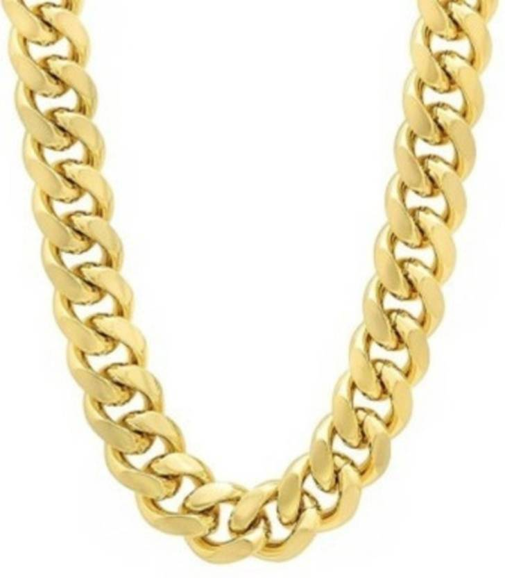 6dd0e6c2a serveuttam Most Popular Design Double Coated Designer Fancy Daily Wear Gold  Plated Metal Neck Chain For Men Boys Gold-plated Plated Brass Chain Price  in ...