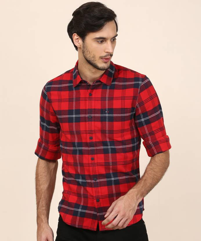 d62feecc Tommy Hilfiger Men Checkered Casual Multicolor Shirt - Buy Tommy Hilfiger  Men Checkered Casual Multicolor Shirt Online at Best Prices in India |  Flipkart. ...