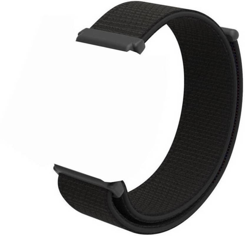ebfab6aff98 CellFAther Soft Nylon Sport Strap Replacement with Velcro Connector  Wristband for Fitbit Versa Fitness Smart Watch Jet Black (Watch not  Included) Smart ...