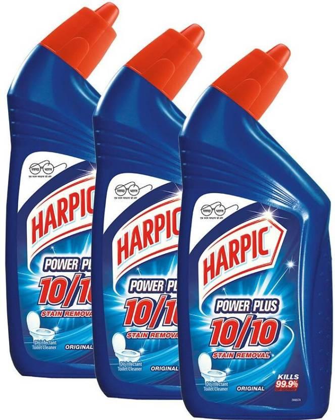 Harpic Power Plus 10/10 Liquid Toilet Cleaner Original  (3 x 0.5 L)
