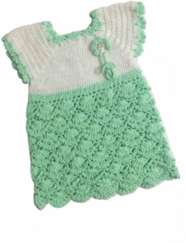 6cd755cdc Cute Collection Woven Round Neck Party Baby Girls Green Sweater ...