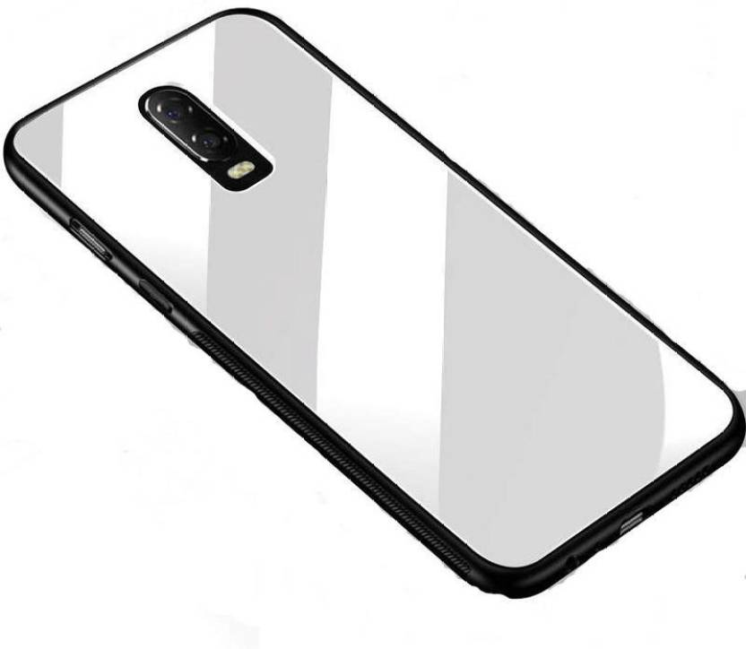 35e44056e6 Trass Back Cover for OnePlus 6T Original Luxurious Toughened Glass Back Case  Cover With TPU Bumper (White, Hard Case, Glass)