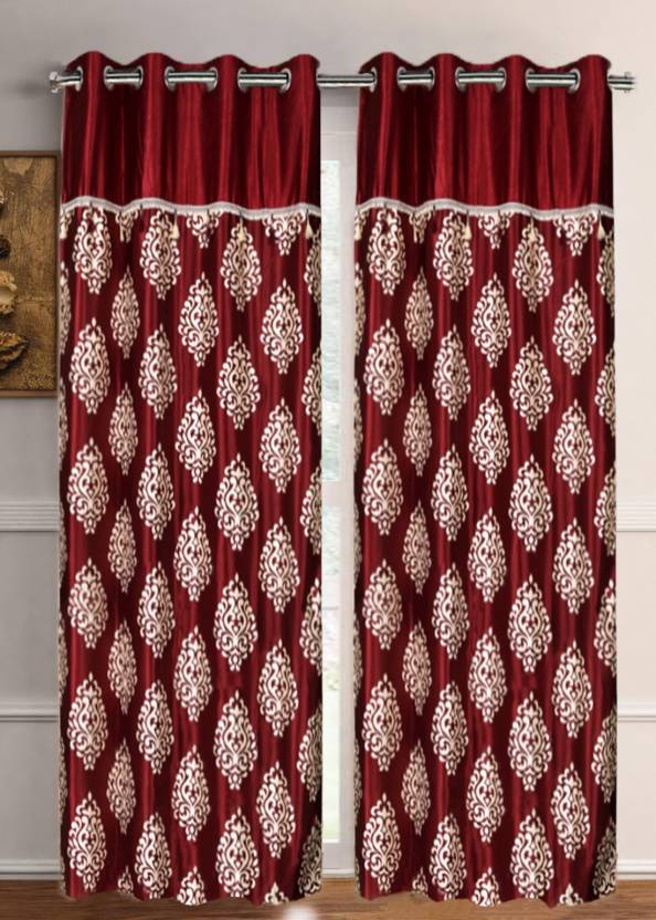 030e52dd6b50ef Flipkart SmartBuy 213 cm (7 ft) Polyester, Tissue Door Curtain (Pack ...