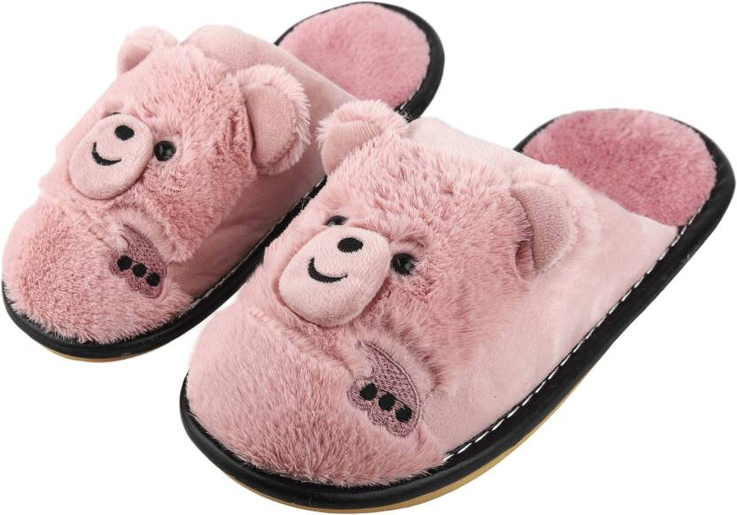 a40843a2a00 IRSOE IRSOE Women Bear Velvet Anti-slip Soft Bottom Wool Slip-On Indoor    Outdoor Winter Slippers- Pink Slippers - Buy IRSOE IRSOE Women Bear Velvet  ...