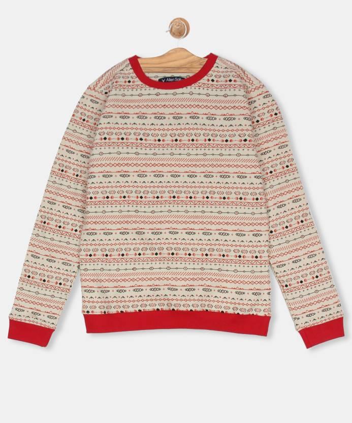 67521a772 Allen Solly Junior Full Sleeve Printed Girls Sweatshirt - Buy Allen ...