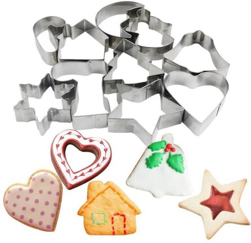 Bestie Toys 10 Pcs Christmas Cookies Cutter Bakeware Mould Biscuit