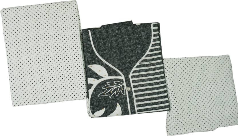 Ishagr cotton embroidered semi stitched salwar suit dupatta material