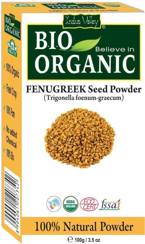 Indus Valley Bio Organic 100% Herbal Fenugreek Powder (Methi Powder)