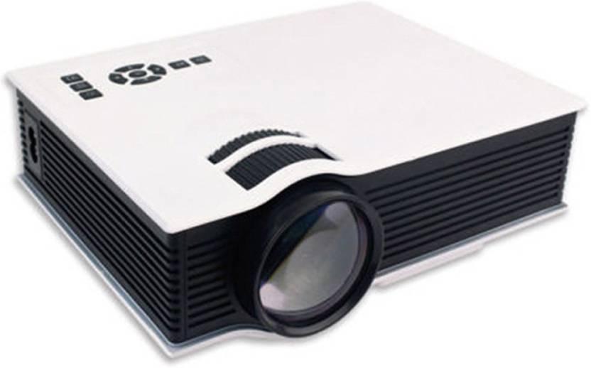 056cb10006bfb5 Zeom UC-40 Mini WIFI Home Theater Multimedia Video PC USB SD AV HDMI  Support Full HD 1080P Portable Projector (White)