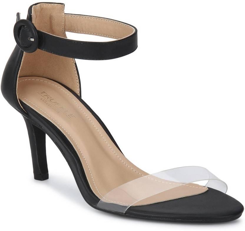 576224efa83 Truffle Collection Women Black Heels - Buy Truffle Collection Women Black  Heels Online at Best Price - Shop Online for Footwears in India