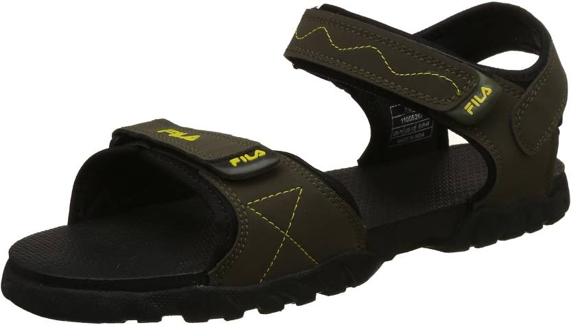 70a75c0acd0e Fila Men Black  Yellow Sandals - Buy Fila Men Black  Yellow Sandals ...