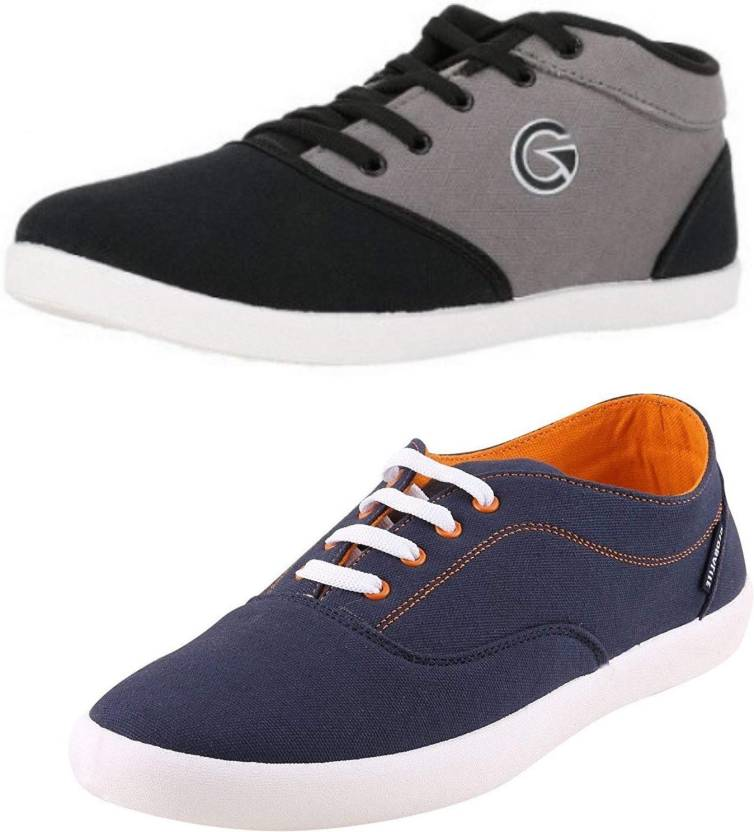 46f9cddeb Globalite Crux   Enigma Casual Shoe Combo (2 in 1) - Walk and Earn Money  with The BolttCoin App!! Sneakers For Men (Black