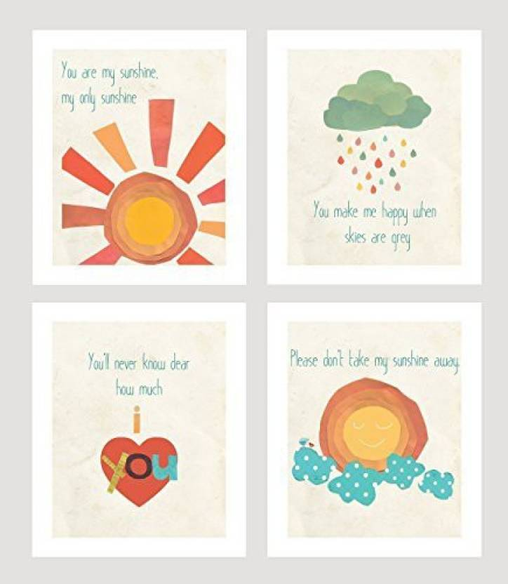 Genrc You Are My Sunshine Print Collection Set Of Four