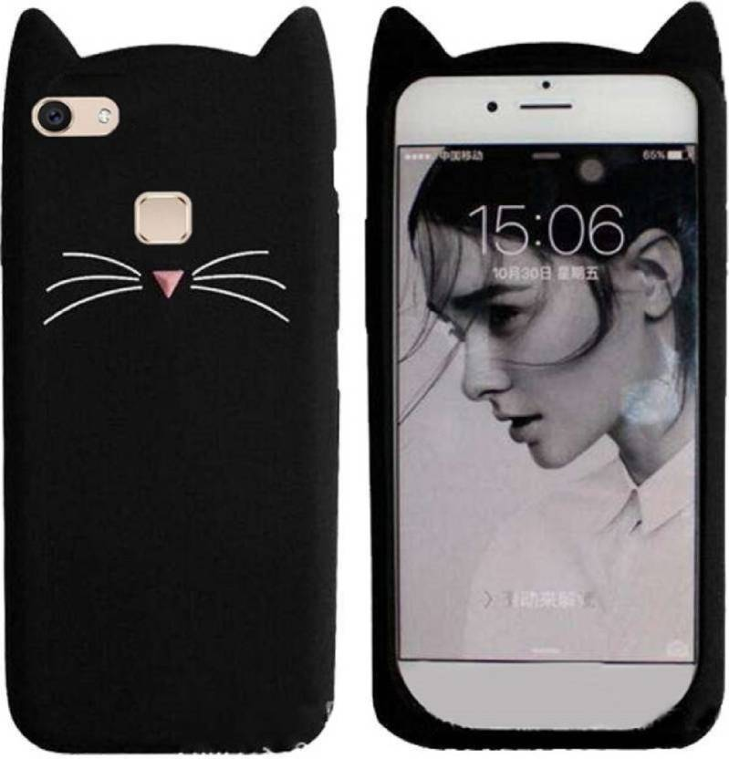 new style b4413 45ec6 KSF Back Cover for Girls 3D Cartoon Cute Cat Silicone Mobile Back ...