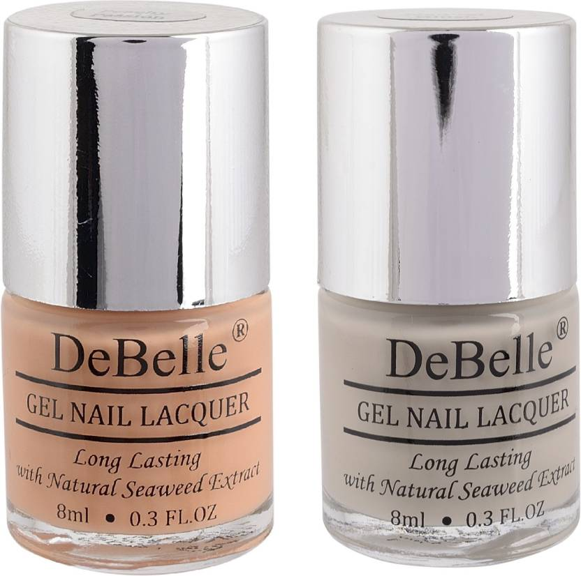 Debelle Gel Nail Polish Combo Of 2 Nude Peach Natural Blush