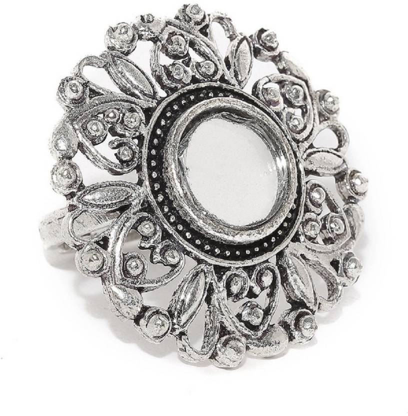c0412f26094a8 Chooz Designer Studio oxidised Ring Beautiful Mirror Ring, Handmade ...