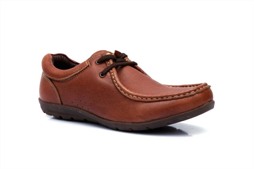 6235741abca Banish Tan Genuine Leather Casual Shoes Sneakers For Men - Buy ...