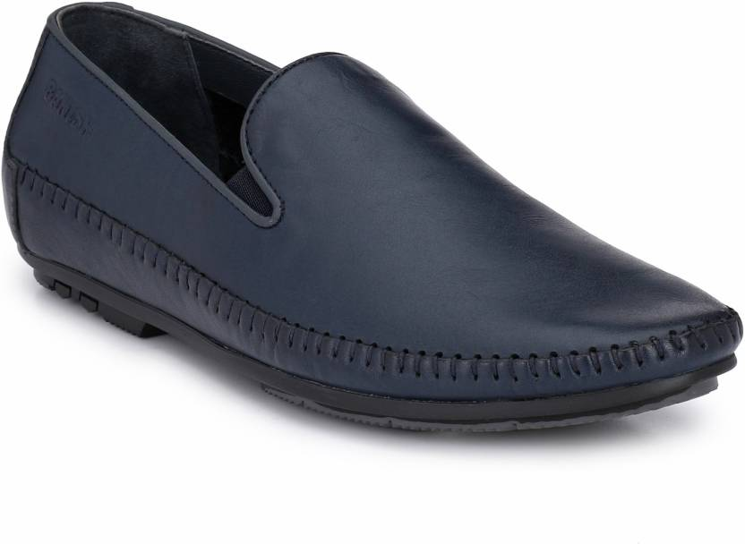 46a83b8a4ebbd Banish Blue Genuine Leather Outdoor Casual Loafer Shoes Casuals For Men