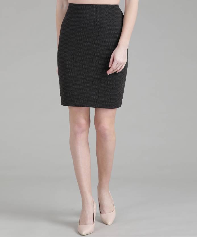 d1c475adee Van Heusen Self Design Women's Pencil Black Skirt - Buy black Van Heusen  Self Design Women's Pencil Black Skirt Online at Best Prices in India |  Flipkart. ...