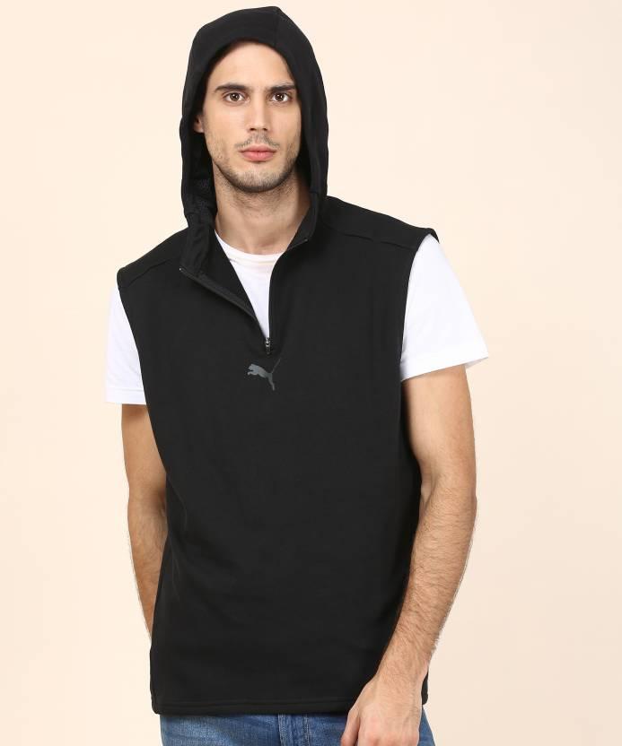0c7a9a16b62ec Puma Sleeveless Solid Men s Sweatshirt - Buy Puma Sleeveless Solid ...