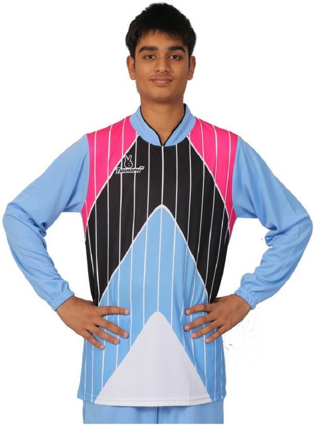 Triumph Sports Jersey Men s V-neck Light Blue T-Shirt - Buy Triumph ... 4fcba8efb
