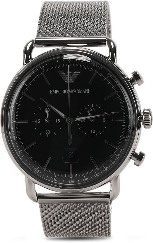 d0f8628ca808 Emporio Armani AR11104 AVIATOR Watch - For Men - Buy Emporio Armani AR11104  AVIATOR Watch - For Men AR11104 Online at Best Prices in India