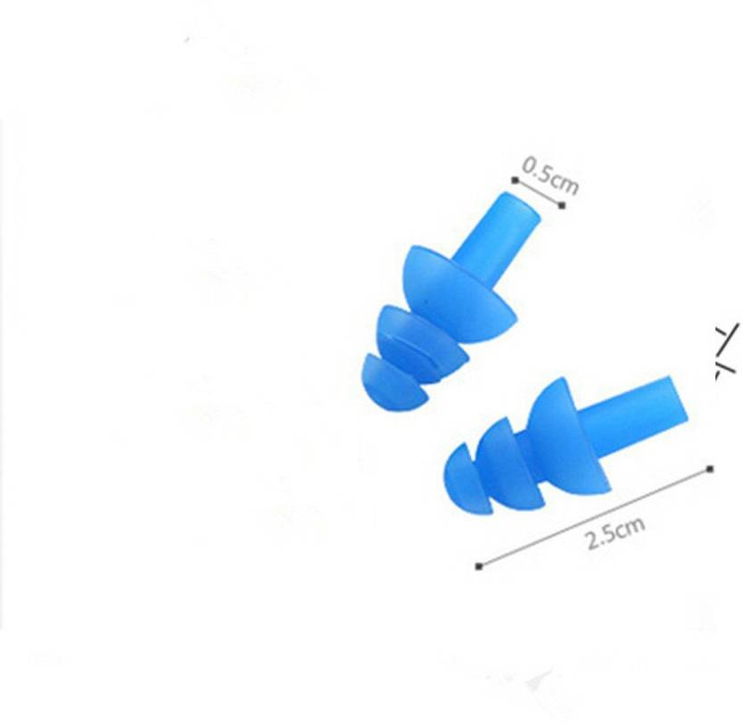 ROYALDEAL New 1 pair Blue Spiral Solid Convenient Silicone Ear Plugs Anti Noise Snoring Earplugs Comfortable For Study Sleeping Ear Plug (Blue)